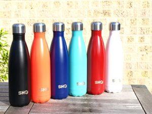 Trinkflasche ohne BPA YOUR Bottle! von SHO - Ultimative Trinkflasche, Insolierte, Doppelwandige Edelstahl Wasserflasche & Trinkflaschen (Isolierflasche) - 24 Stunden Kalt & 12 Heiß - 500ml - BPA Frei - Lebenslange Garantie (Ice White, 500ml) - 8