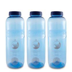 AcalaQuell Wasserfilter Tritan Trinkflasche mit Blume des Lebens